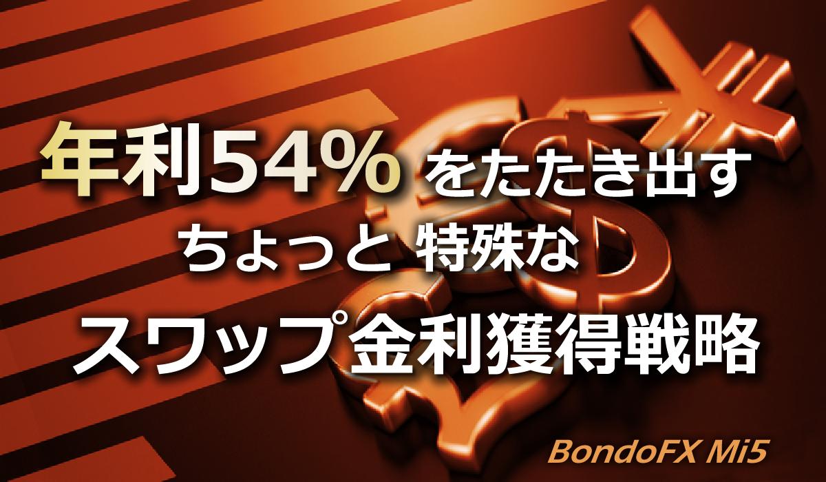 年利54%スワップ金利獲得戦略